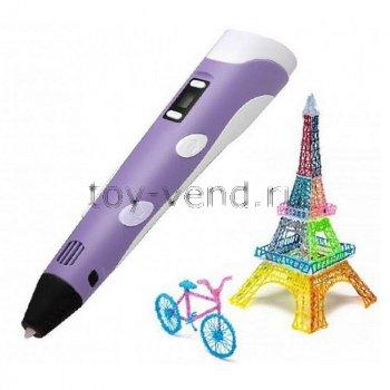 3D ручка 3DPen-3 Фиолетовая